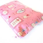 Medium Wet Bag / Nappy Wallet with Waterproof Lining - Ballerina (Pink)